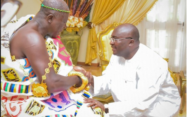 Photo of Your're A Great Asset To Ghana – Bawumia To Otumfuo