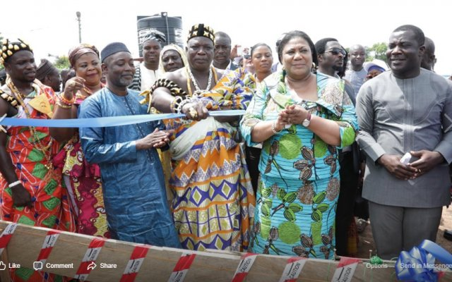 Photo of GA/R: First Lady Cuts Sod For 16-Bed Health Centre
