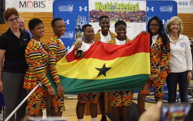 Photo of Kudos! Rawlings To Mamfe Girls' SHS Robotics Team