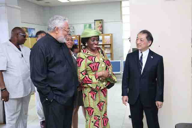 Photo of Rawlings, Nana Konadu Congratulate New Japan Emperor