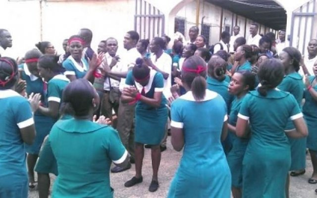 Photo of West Gonja Hospital Nurses Strike