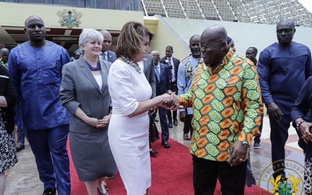 "Photo of ""We Salute Ghana's Role In Global Security"" –Nancy Pelosi"