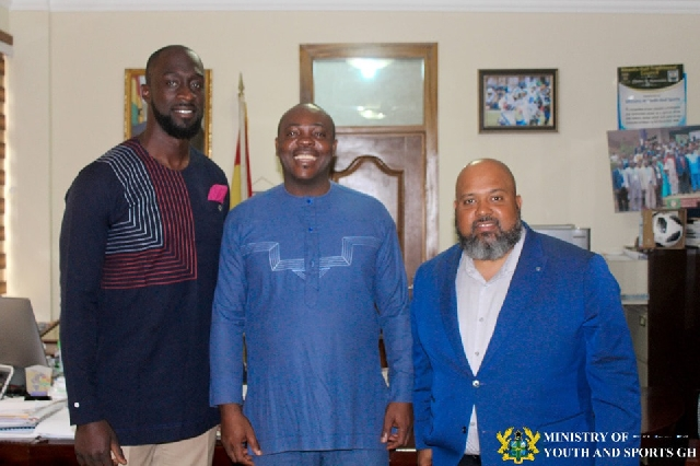 Photo of Africa's NBA Vice President Visits Sports Minister