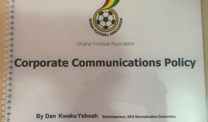 Photo of Dan Kwaku Yeboah Presents Communications Policy To Ghana FA