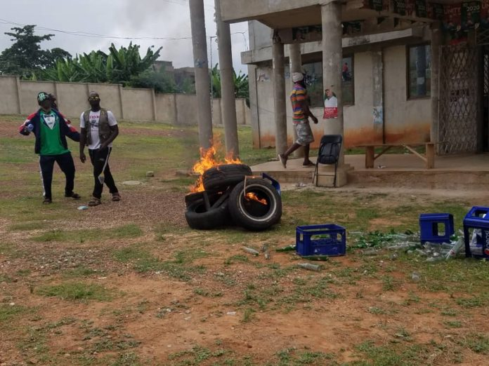 Photo of Asawase: Supporters Of Disqualified NDC Parliamentary Aspirant On Rampage