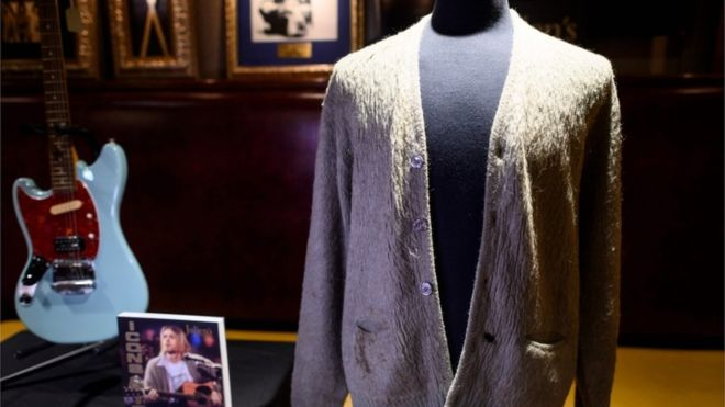 Photo of Kurt Cobain Cardigan Sells At Auction For $334,000