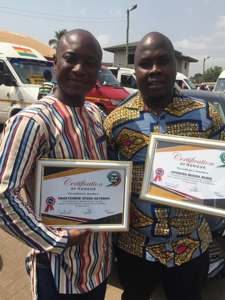Photo of Power Fm's Oheneba And Daakyehene Get Reward From Drivers Group