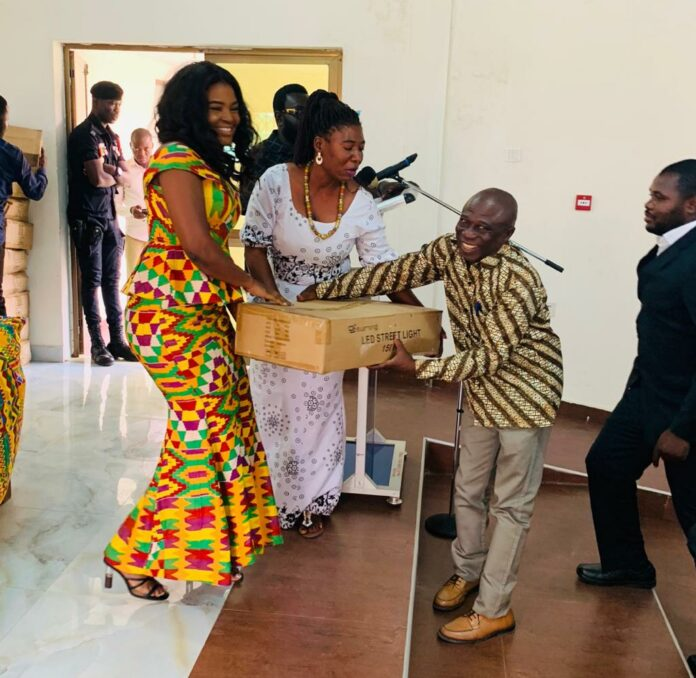 Photo of Joycelyn Tetteh Donates Street Lights To Assembly Members
