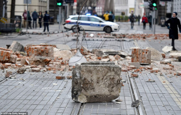 Photo of Pictures: Croatian Capital Zagreb Hit By Largest Earthquake In 140 Years