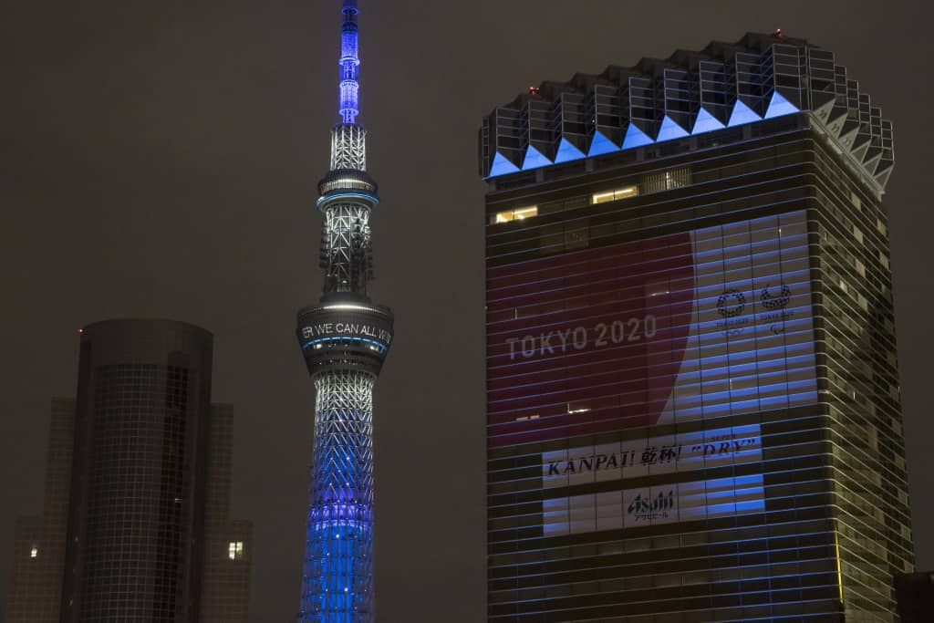 Photo of Tokyo 1964 Olympic Monument Turned Blue To Pay Tribute To Doctors And Nurses