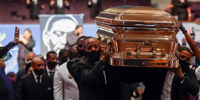 Photo of George Floyd's funeral hears calls for racial justice