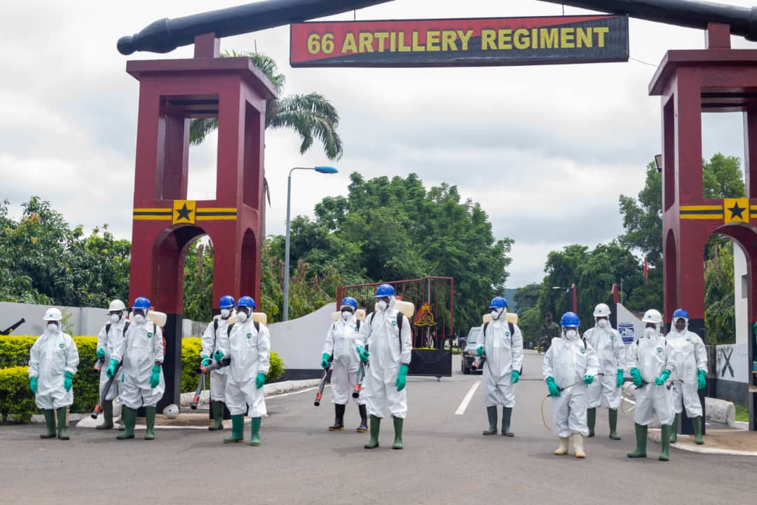 Photo of 55 Military Facilities in Volta & Oti Regions disinfects by Zoomlion