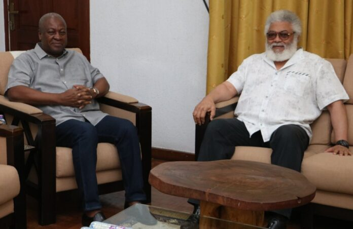 Photo of Mahama Meets Rawlings Over Running Mate Choice, Other NDC Matters