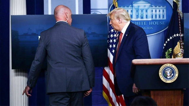 Photo of Trump Escorted Out Of Briefing As Man Shot Near White House