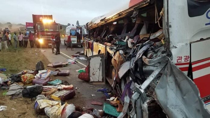 Photo of 10 Dead, 80 Injured In Crash Between Two Buses And Cargo Truck