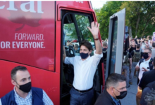 Photo of Canada PM Justin Trudeau hit with stones on campaign trail